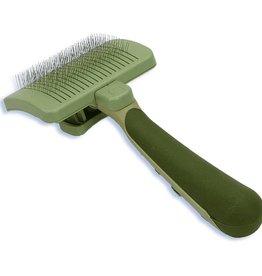 Coastal Pet Products Coastal Safari Self-Cleaning Slicker Brush for Cats- Green