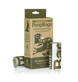 Earth Rated Earth Rated PoopBags Unscented Vegetable-Based Compostable Bags Refill Pack, 60 count for Dogs