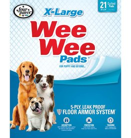 """Four Paws Four Paws Wee-Wee Extra Large Puppy Housebreaking Pads, 28"""" x 34"""" / 21 count"""