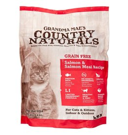 Grandma Maes Country Naturals Grandma Mae's Country Naturals Grain-Free Salmon Meal Recipe Dry Cat Food- 3 Lb.