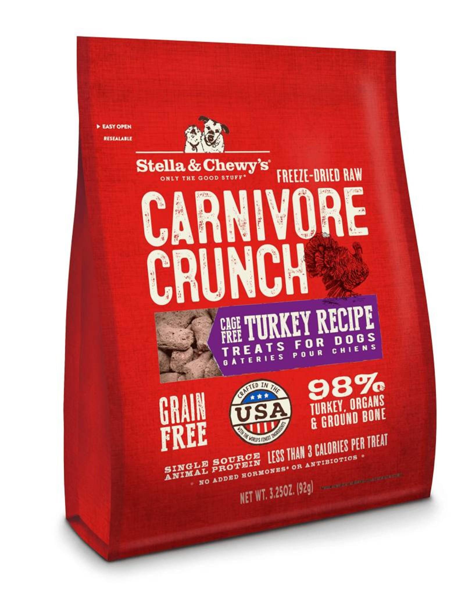 Stella & Chewy's Stella & Chewy's Carnivore Crunch Cage-Free Turkey Recipe Dog Treats- 3.25 oz.  bag
