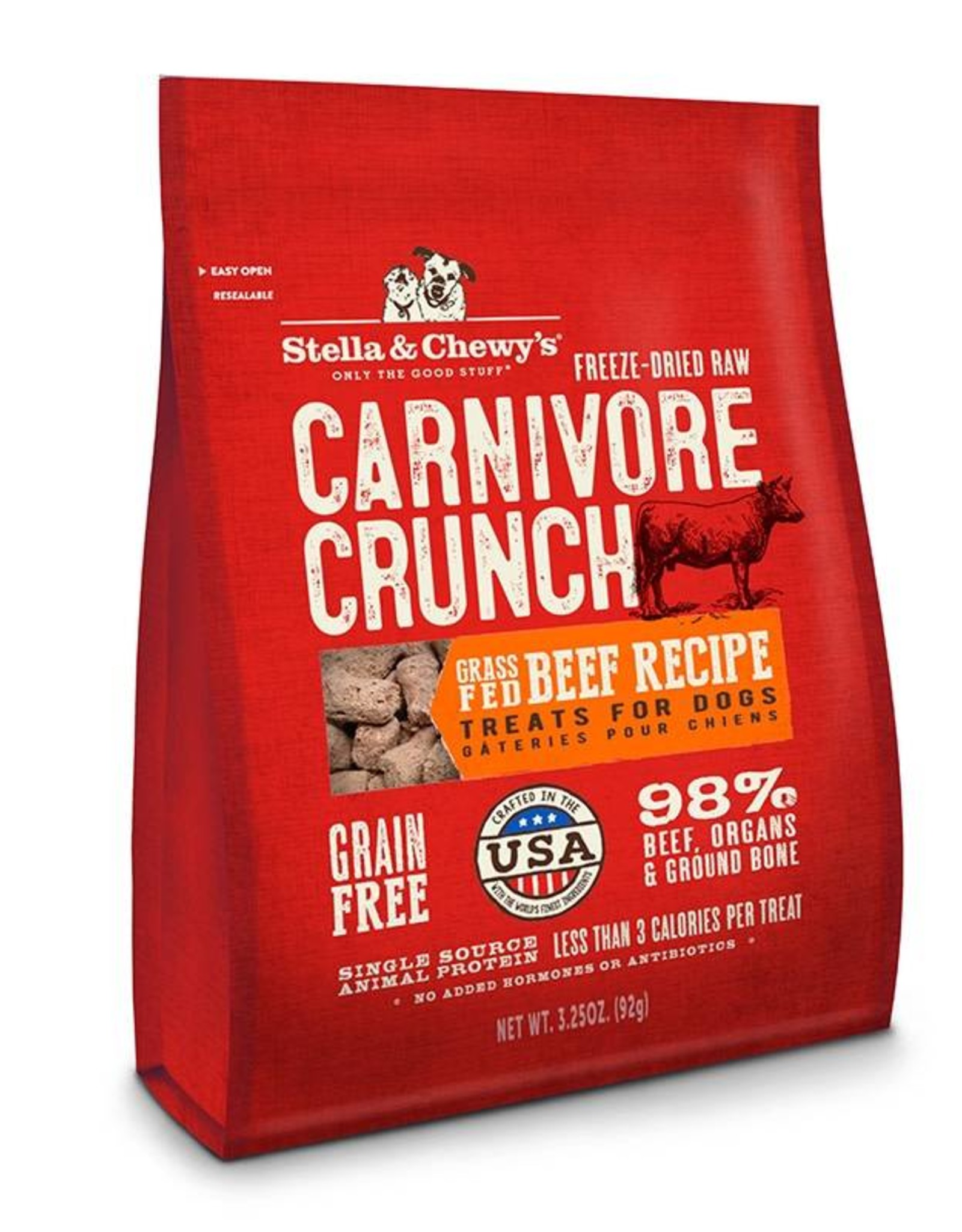 Stella & Chewy's Stella & Chewy's Carnivore Crunch Grass-Fed Beef Recipe Dog Treat- 3.25 oz. bag