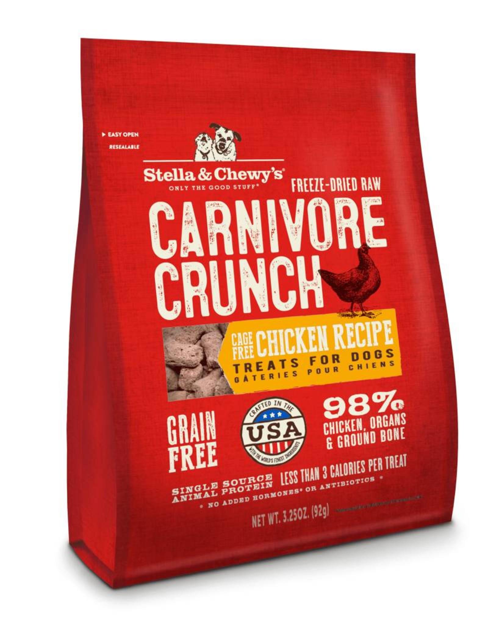 Stella & Chewy's Stella & Chewy's Carnivore Crunch Cage-Free Chicken Recipe Dog Treat- 3.25 oz. bag