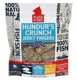 Plato Pet Treats Plato Hundur's Grain-Free Crunch Jerky Fingers Fish Dog Treats 3.5 oz