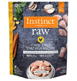 Nature's Variety Nature's Variety Instinct Frozen Raw Medallions Grain-Free Cage-Free Chicken Recipe Dog Food, 3-lb bag