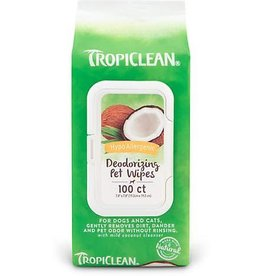 TropiClean TropiClean Hypo Allergenic Deodorizing Dogs Wipes 100 count