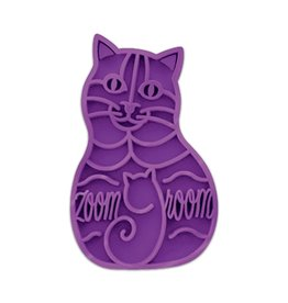 Kong KONG Cat ZoomGroom Multi-Use Purple Brush For Cats