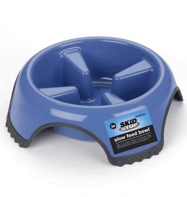 JW Products JW Pet Skid Stop Slow Feed Dog Bowl, Color Varies/ Large