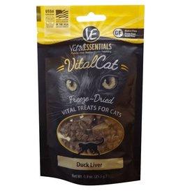 Vital Essentials Vital Essentials Duck Liver Freeze-Dried Cat Treats- 0.9 oz. bag