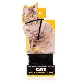 Coastal Pet Products COASTAL Harness/Lead Cat Blk