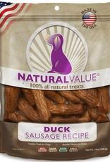 Loving Pets Loving Pets Natural Value All Natural Soft Chew Duck Sausages Dog Treats- 14 oz.