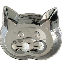 Ourpets OurPets Metalshield Cat Face Dish, 1 Cup