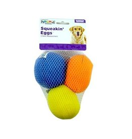 Outward Hound Outward Hound Egg Babies Replacement Eggs Dog Toy, 3 count MULTICOLORS