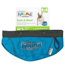 Outward Hound Outward Hound Port-A-Bowl Dog Bowl/ Medium / Green