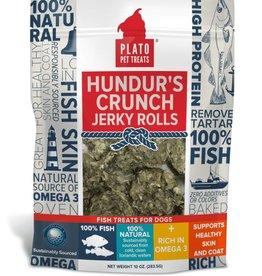 Plato Pet Treats Plato Hundur's Crunch Jerky Rolls Dog Treats10 oz. Bag