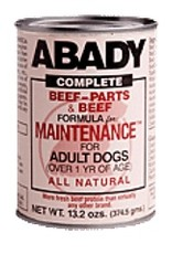 Abady Abady Beef Parts Maintenance Can Dog food -  13.2 oz