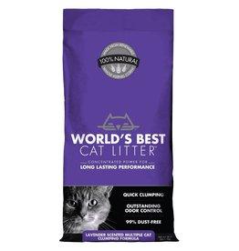 Worlds Best Cat Litter World's Best Cat Litter Lavender Scented Multiple Cat Clumping Formula- 28 LB