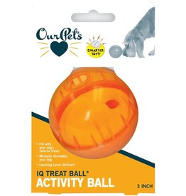 """Cosmic Pet Our Pets Smarter Toys 3"""" IQ Treat Ball Colors Varies"""