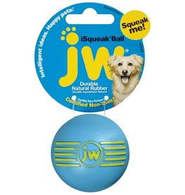 JW Products JW Pet iSqueak Ball Dog Toy, Color Varies