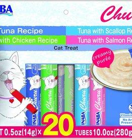 Inaba Churu Tuna Puree Variety Pack Grain-Free Lickable Cat Treat