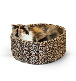 K & H Manufacturing 20 IN. LG. LAZY CUP - LEOPARD