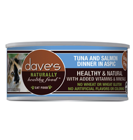 Daves Pet Food Dave's Cat Naturally Healthy Tuna & Salmon In Aspic 5.5 oz
