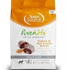 Nutrisource PureVita Grain Free Venison & Red Lentils Dog Food 5 lb