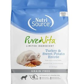 Nutrisource PureVita Grain Free Turkey & Sweet Potato Dry Dog Food 5 lb