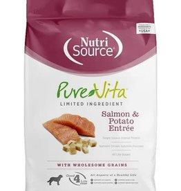 Nutrisource Nutri Source Pure Vita Dog Dry Salmon & Potato 5 lb