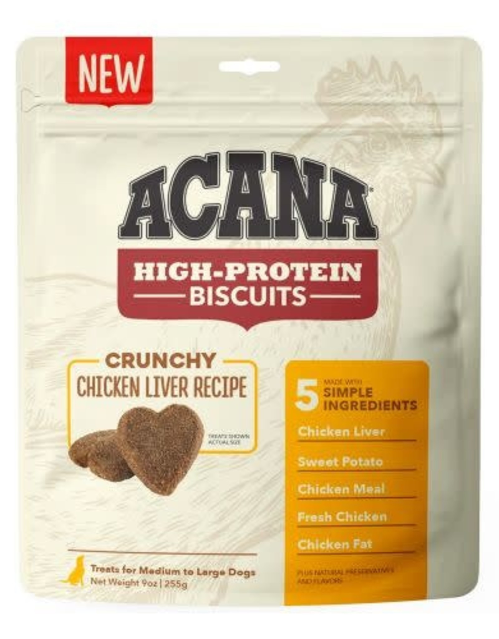 Acana Acana High-Protein Biscuits Dog Treats Chicken Liver Small 9 oz