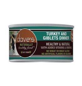 Daves Pet Food Dave's Pet Food Cat Turkey Giblets 3 oz