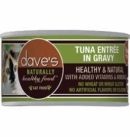 Daves Pet Food Dave's Pet Food Naturally Healthy Grain-Free Tuna Entree in Gravy Cat 3 oz