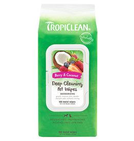 TropiClean Tropiclean Wipes Deep Cleaning Deodorizing 100 Count