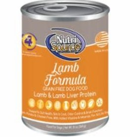 Nutrisource Nutri Source Grain Free Lamb Can Dog 13 oz