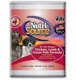 Nutrisource Nutri Source Dog Chicken, Lamb, & Fish Can 13 oz