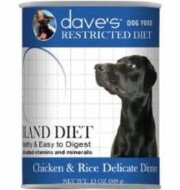 Daves Pet Food Dave's Dog Chicken & Rice Restricted 13 oz
