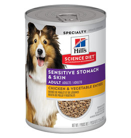 Hill's Science Pet Hill's Science Diet® Adult Sensitive Stomach & Skin Chicken & Vegetable Entrée Dog 12.8 oz