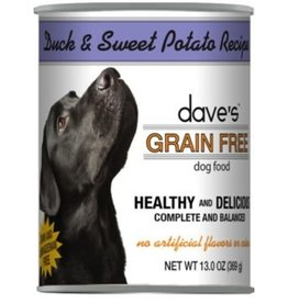 Daves Pet Food Dave's Grain Free Duck & Sweet Potato Recipe Canned Dog Food 13 oz