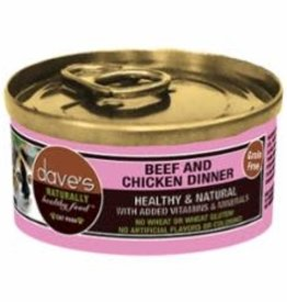 Daves Pet Food Dave's  Cat Beef Chicken 3 oz