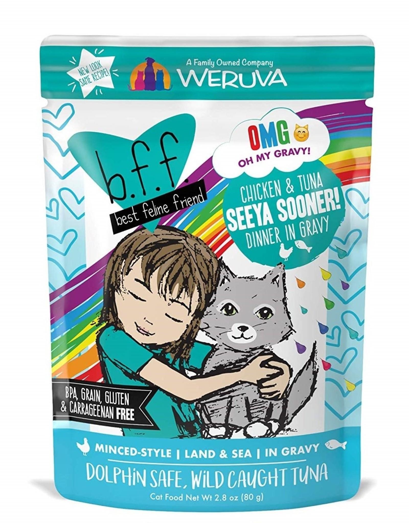 Weruva Weruva BFF Omg Chicken Tuna Pouch Cat 2.8 oz