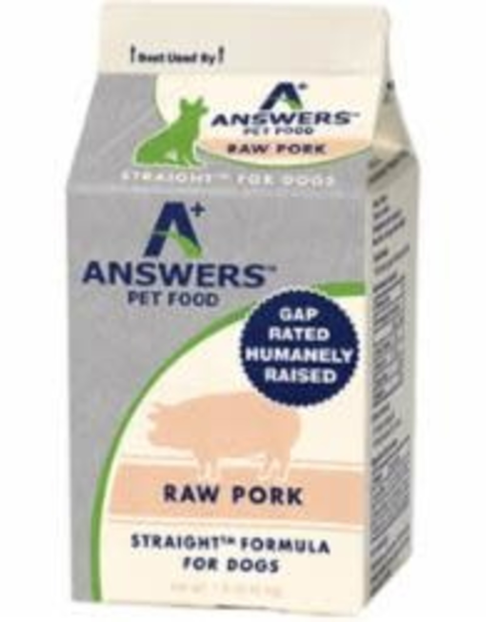 Answers Answers Dog Frozen Straight Pork 1 lb