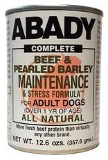 Abady Abady Beef & Pearled Barley Maintenance And Stress Formula Dog 12 oz