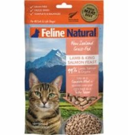 Feline Natural Feline Natural Lamb & King Salmon Feast Grain-Free Freeze-Dried Cat Food 3.5 oz