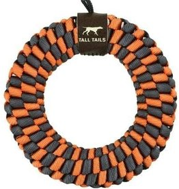 Tall Tails Tall Tails Dog Toy Braided Ring Orange & Charcoal 5
