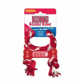 KONG COMPANY Kong Goodie Bone with Rope Dog Toy, Extra Small Red