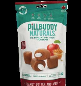 Presidio Presidio Dog Treat Pill Buddy Naturals Peanut Butter & Apple 5.3 oz