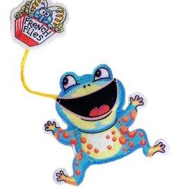FUZZU LLC Fuzzu Fast Food Cat Toy - Frog and French Flies with Organic Catnip