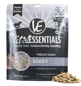 Vital Essentials Vital Essentials Rabbit Entree Mini Nibs Grain-Free Freeze-Dried Dog Food 14 oz