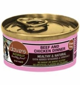 Daves Pet Food Dave's Beef and Chicken Cat 5.5 oz