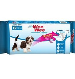 Four Paws Wee-Wee Disposable Diapers X-Small 12PK